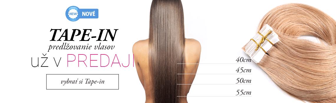 Tape in vlasy na páske - 100% ľudské vlasy - www.nanicvlasy.sk