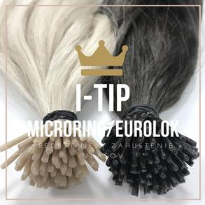 I-tip Microring a eurolok vlasy na predĺženie a zahustenie vlasov