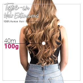 Tape in vlasy 40cm