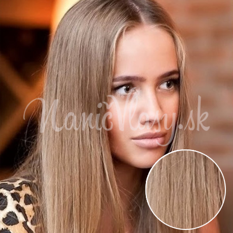 Clip-in vlasy Premium, Svetlohnedá