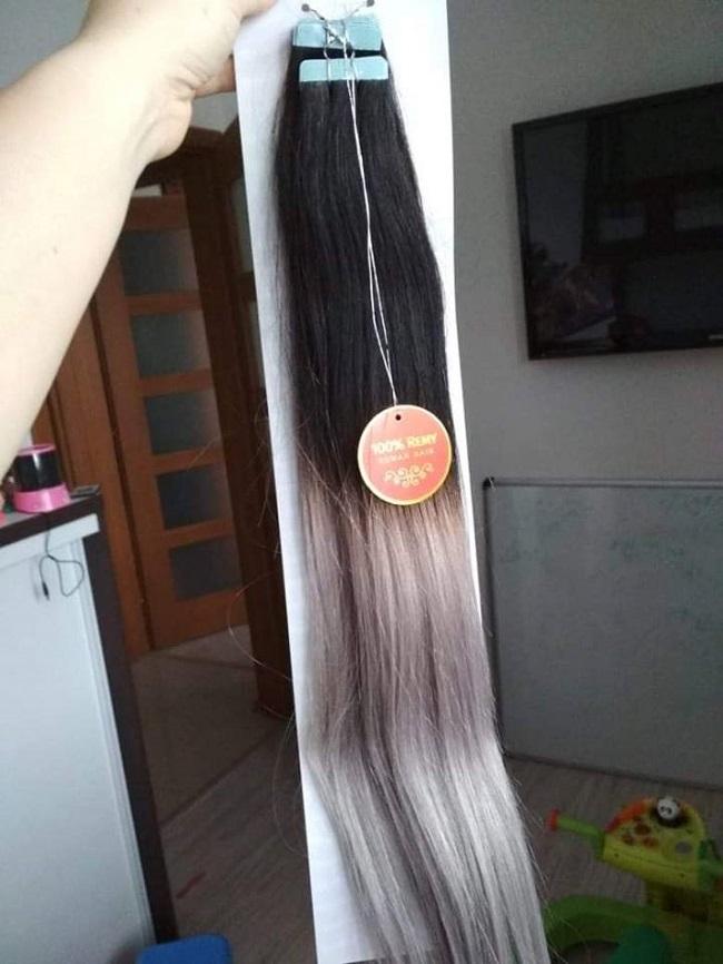 Tak takto nás dnes potešila Tatianka s Tape in vlasmi ombré 50cm  1B S 3f051f67b91